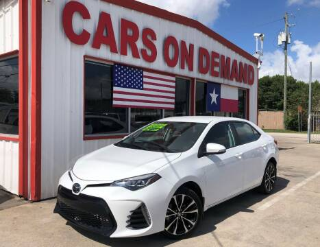 2019 Toyota Corolla for sale at Cars On Demand 3 in Pasadena TX