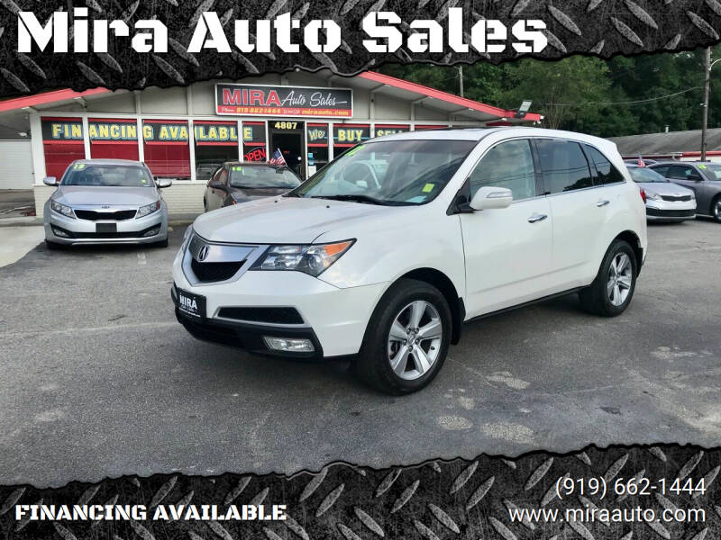 2012 Acura MDX for sale at Mira Auto Sales in Raleigh NC