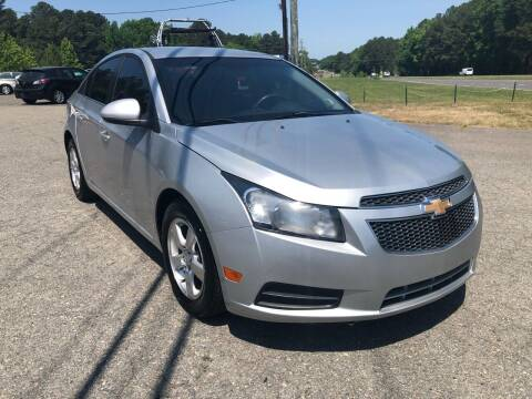 2012 Chevrolet Cruze for sale at CVC AUTO SALES in Durham NC