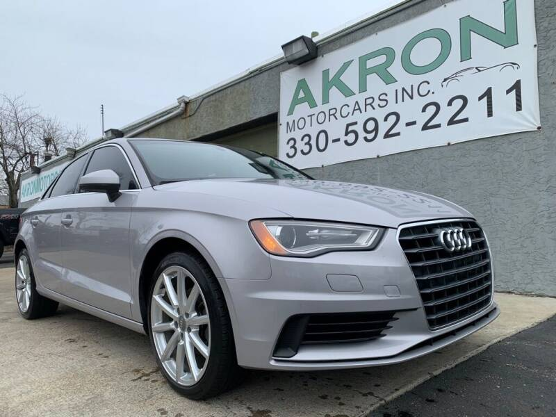 2015 Audi A3 for sale at Akron Motorcars Inc. in Akron OH