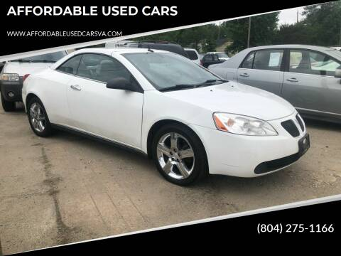 2009 Pontiac G6 for sale at AFFORDABLE USED CARS in Richmond VA