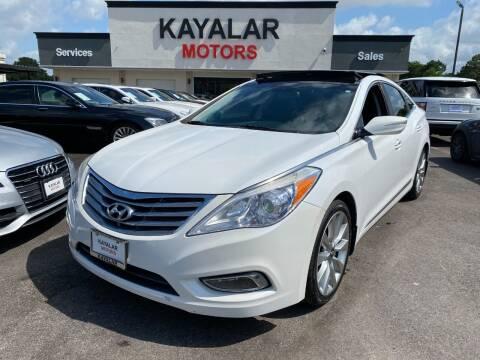2014 Hyundai Azera for sale at KAYALAR MOTORS in Houston TX
