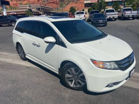 2014 Honda Odyssey for sale at Boulevard Motors in Saint George UT