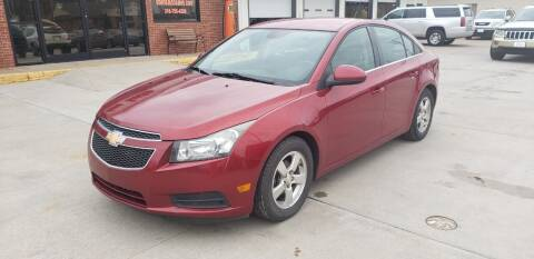 2013 Chevrolet Cruze for sale at Eden's Auto Sales in Valley Center KS