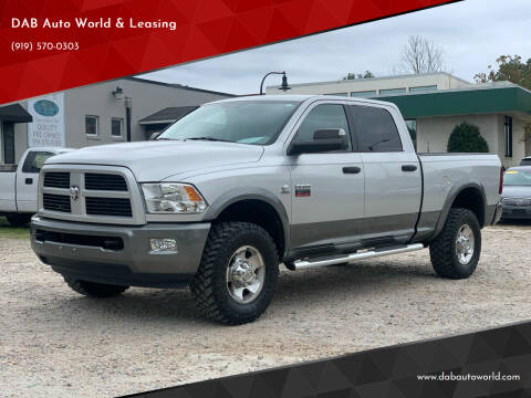 2012 RAM Ram Pickup 2500 for sale at DAB Auto World & Leasing in Wake Forest NC