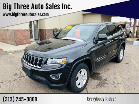 2014 Jeep Grand Cherokee for sale at Big Three Auto Sales Inc. in Detroit MI