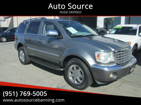 2008 Chrysler Aspen for sale at Auto Source in Banning CA
