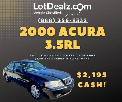 2000 Acura RL for sale at Lot Dealz in Rockledge FL