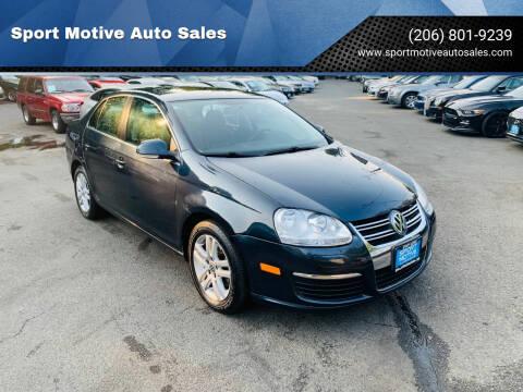 2010 Volkswagen Jetta for sale at Sport Motive Auto Sales in Seattle WA