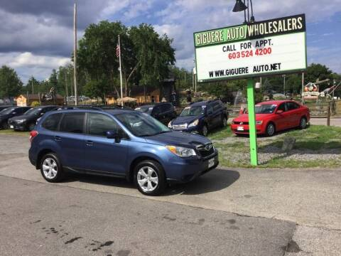 2014 Subaru Forester for sale at Giguere Auto Wholesalers in Tilton NH