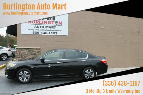 2013 Honda Accord for sale at Burlington Auto Mart in Burlington NC