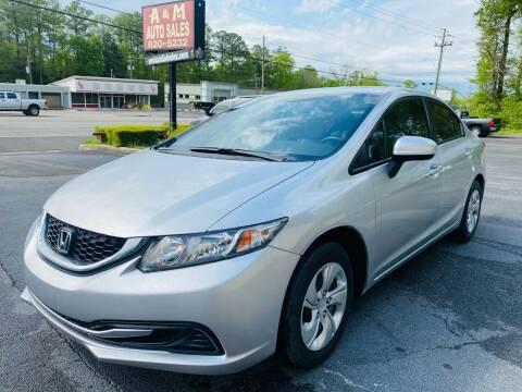 2015 Honda Civic for sale at A & M Auto Sales, Inc in Alabaster AL