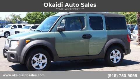2003 Honda Element for sale at Okaidi Auto Sales in Sacramento CA