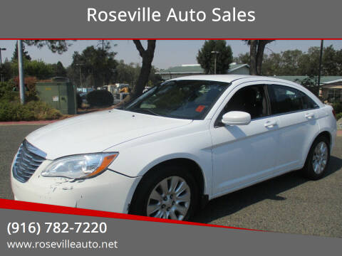 2013 Chrysler 200 for sale at Roseville Auto Sales in Roseville CA