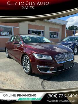 2017 Lincoln MKZ for sale at City to City Auto Sales in Richmond VA