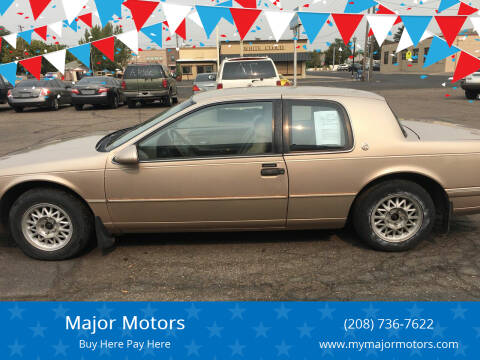 1993 Mercury Cougar for sale at Major Motors in Twin Falls ID