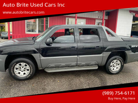 2002 Chevrolet Avalanche for sale at Auto Brite Used Cars Inc in Saginaw MI