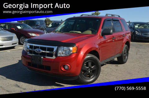 2012 Ford Escape for sale at Georgia Import Auto in Alpharetta GA
