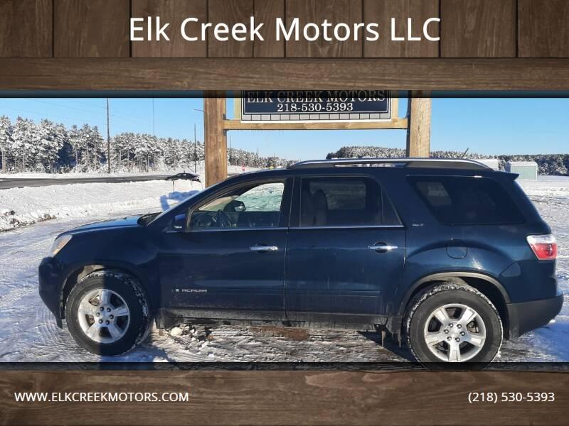 2008 GMC Acadia for sale at Elk Creek Motors LLC in Park Rapids MN