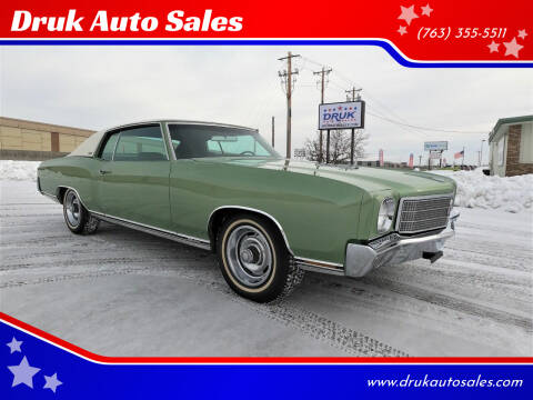 1970 Chevrolet Monte Carlo for sale at Druk Auto Sales in Ramsey MN