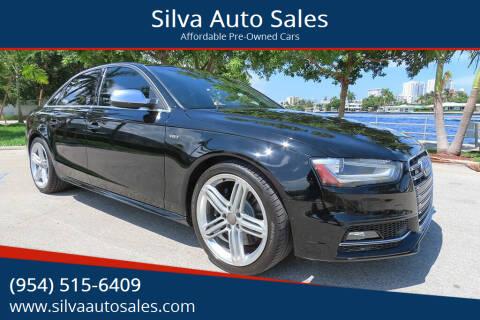 2013 Audi S4 for sale at Silva Auto Sales in Pompano Beach FL