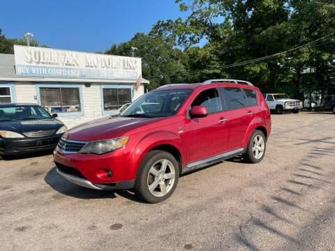 2009 Mitsubishi Outlander for sale at Lucien Sullivan Motors INC in Whitman MA