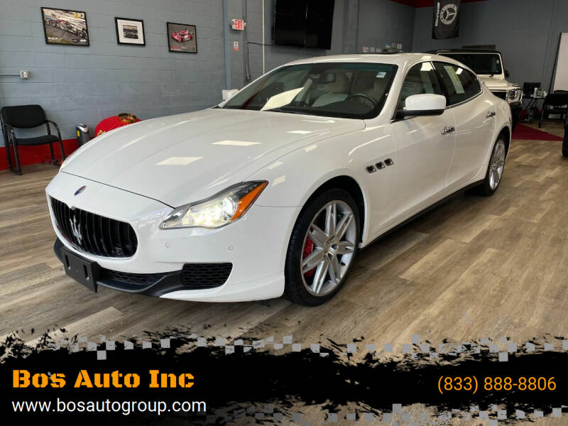 2015 Maserati Quattroporte for sale at Bos Auto Inc in Quincy MA