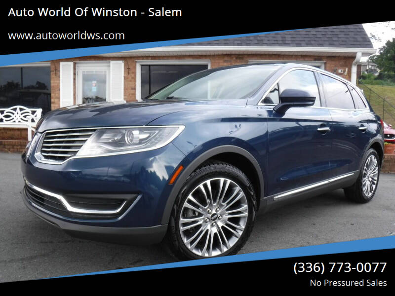 2017 Lincoln MKX for sale at Auto World Of Winston - Salem in Winston Salem NC