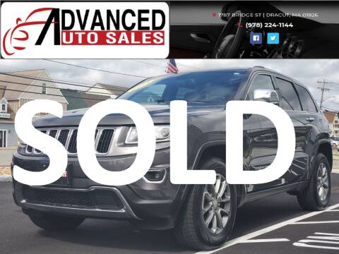 2014 Jeep Grand Cherokee for sale at Advanced Auto Sales in Dracut MA