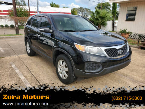2012 Kia Sorento for sale at Zora Motors in Houston TX