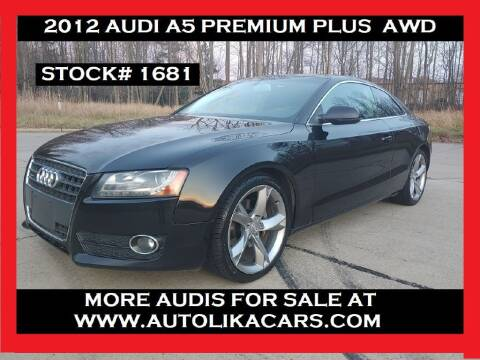 2012 Audi A5 for sale at Autolika Cars LLC in North Royalton OH
