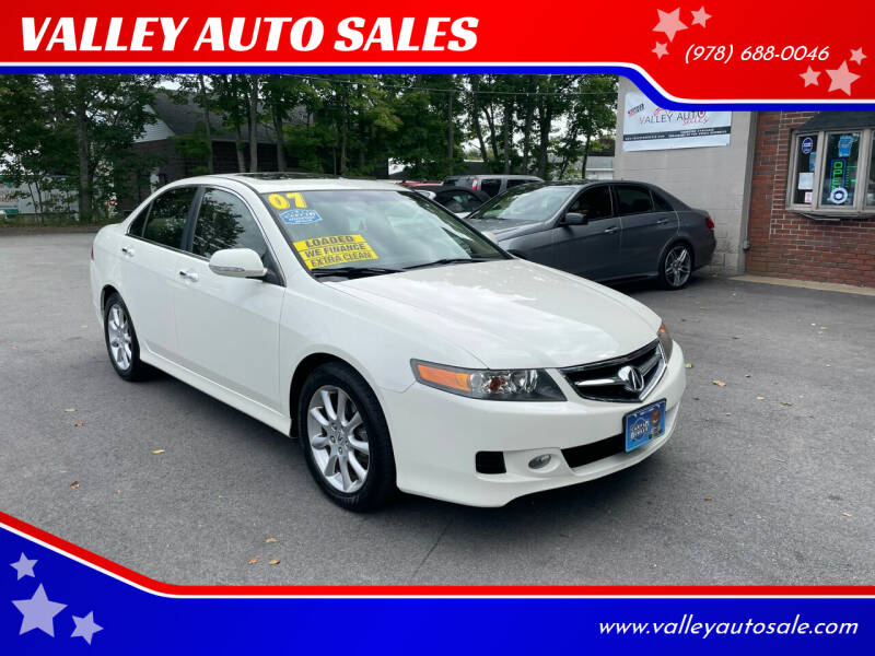 2007 Acura TSX for sale at VALLEY AUTO SALES in Methuen MA