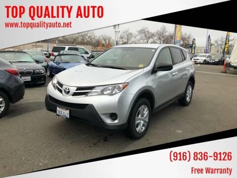 2015 Toyota RAV4 for sale at TOP QUALITY AUTO in Rancho Cordova CA