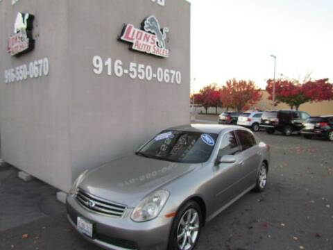2005 Infiniti G35 for sale at LIONS AUTO SALES in Sacramento CA