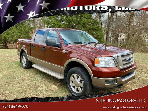 2005 Ford F-150 for sale at STIRLING MOTORS, LLC in Irwin PA