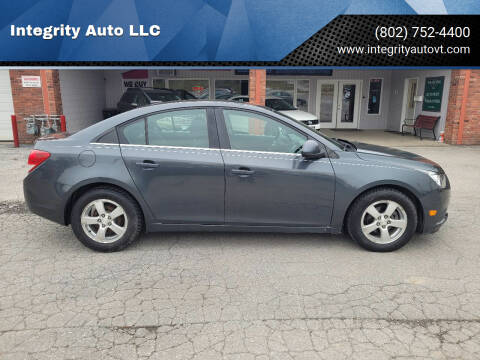 2013 Chevrolet Cruze for sale at Integrity Auto LLC - Integrity Auto 2.0 in St. Albans VT