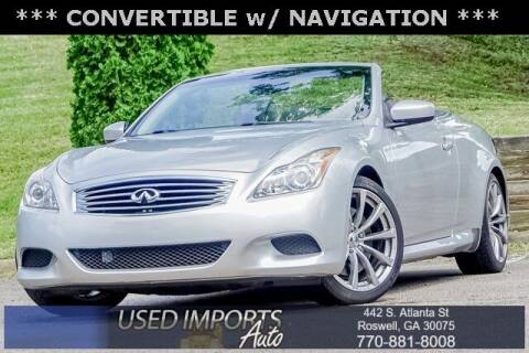 2010 Infiniti G37 Convertible for sale at Used Imports Auto in Roswell GA