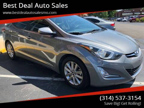 2014 Hyundai Elantra for sale at Best Deal Auto Sales in Saint Charles MO