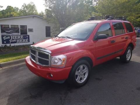 2006 Dodge Durango for sale at TR MOTORS in Gastonia NC