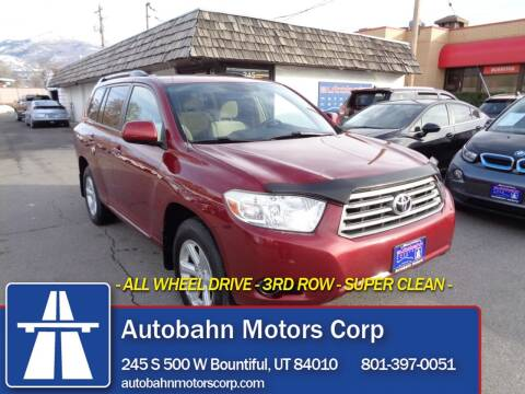 2009 Toyota Highlander for sale at Autobahn Motors Corp in Bountiful UT