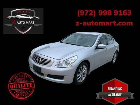 2009 Infiniti G37 Sedan for sale at Z AUTO MART in Lewisville TX