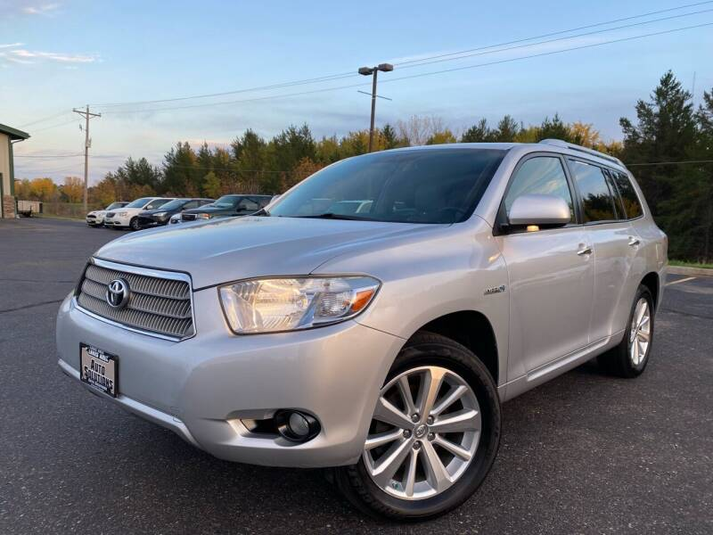 2008 Toyota Highlander Hybrid for sale at Lakes Area Auto Solutions in Baxter MN