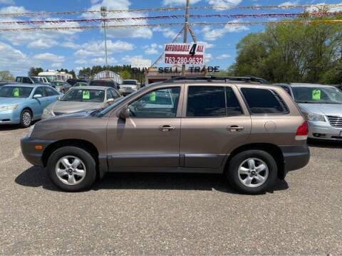 2005 Hyundai Santa Fe for sale at Affordable 4 All Auto Sales in Elk River MN