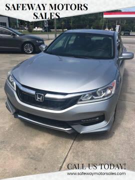 2016 Honda Accord for sale at Safeway Motors Sales in Laurinburg NC