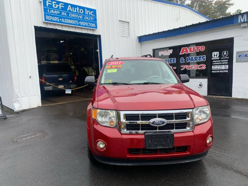 2011 Ford Escape for sale at F&F Auto Inc. in West Bridgewater MA