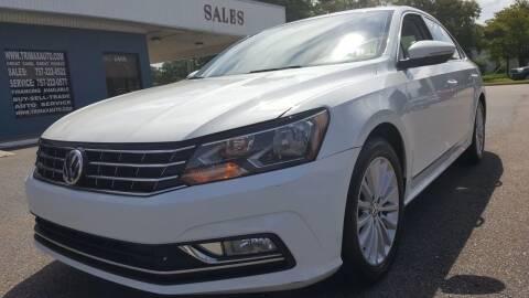 2016 Volkswagen Passat for sale at Trimax Auto Group in Norfolk VA