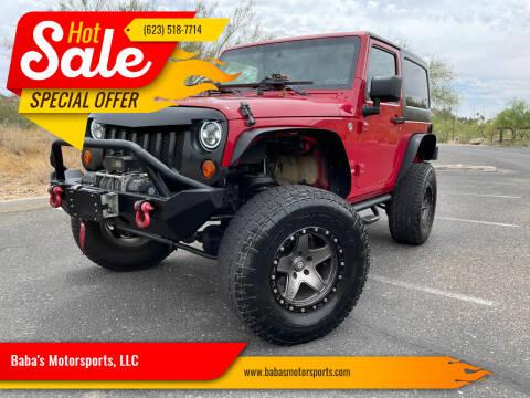 2010 Jeep Wrangler for sale at Baba's Motorsports, LLC in Phoenix AZ