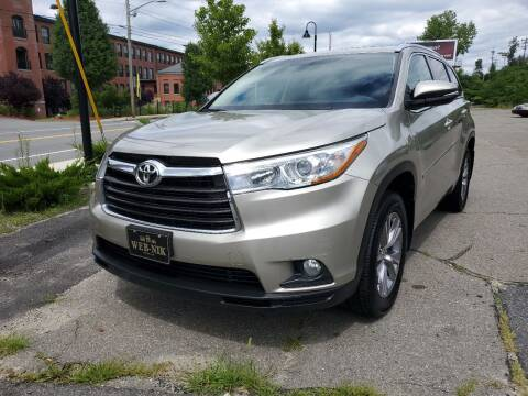 2015 Toyota Highlander for sale at WEB NIK Motors in Fitchburg MA