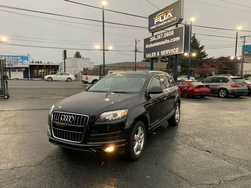 2014 Audi Q7 for sale at First Union Auto in Seattle WA