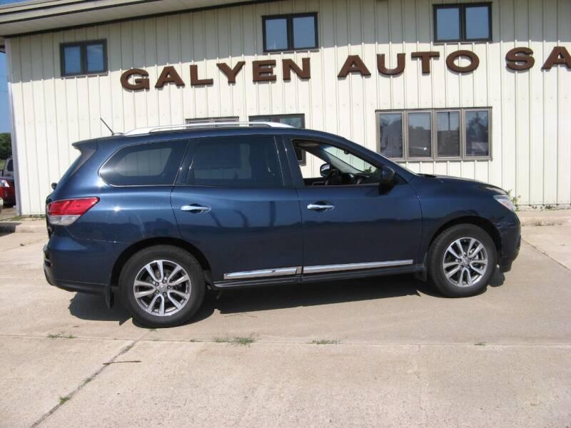 2015 Nissan Pathfinder for sale at Galyen Auto Sales in Atkinson NE